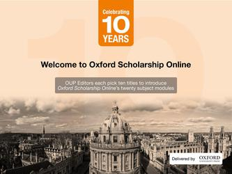 Oxford Scholarship Online 10 Selected Reading