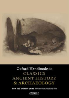 Oxford Handbooks in Classics, Ancient History & Archaeology