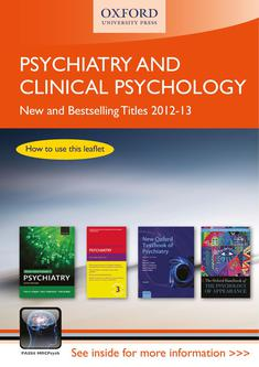 Psychiatry and Clinical Psychology 2012/13
