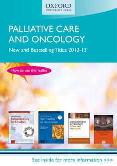 Palliative Care and Oncology 2012/13