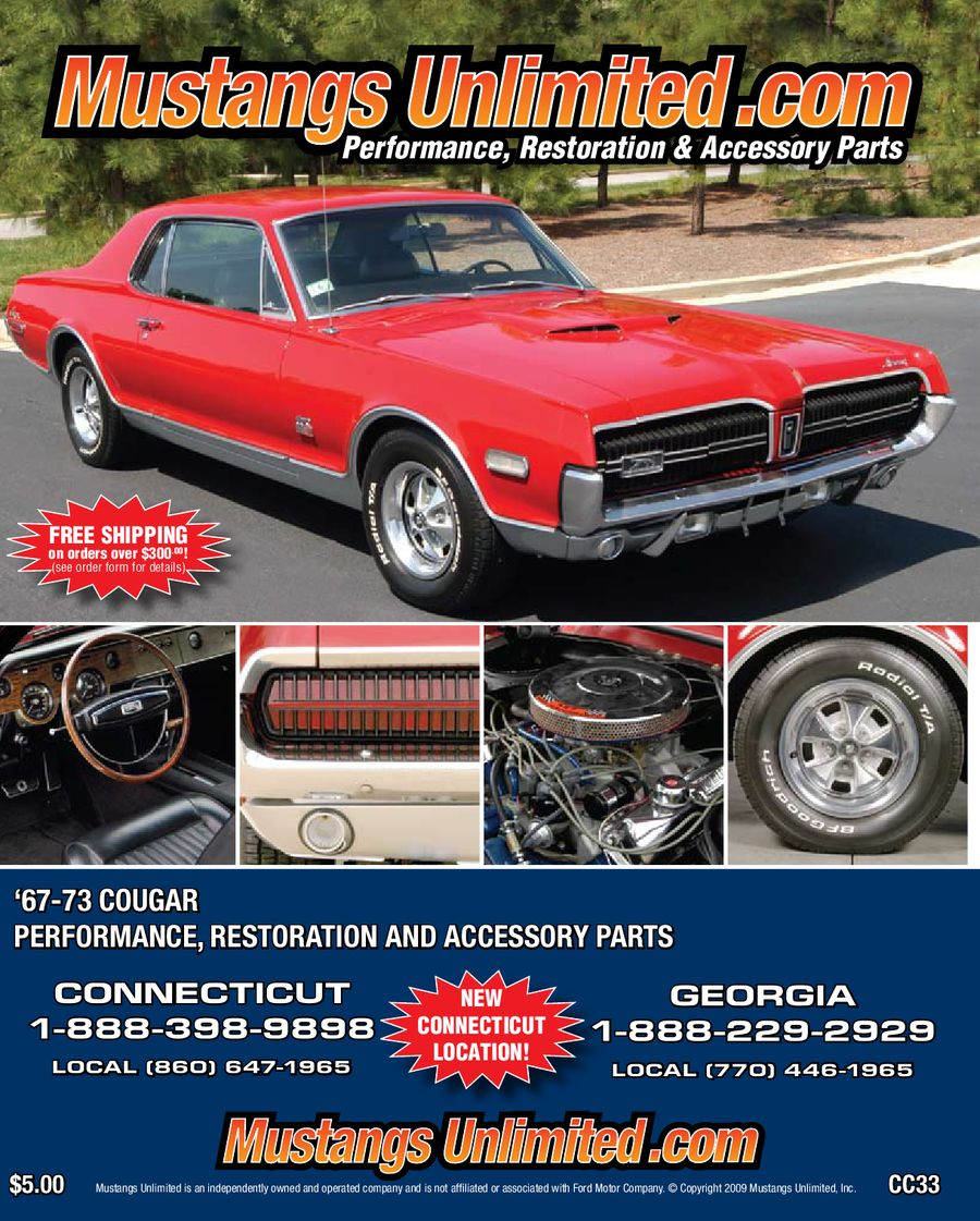 1967-1973 Mercury Cougar Catalog by Mustangs Unlimited