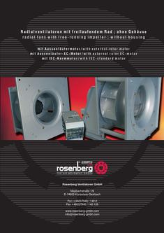 free blowing fans by rosenberg ventilatoren. Black Bedroom Furniture Sets. Home Design Ideas
