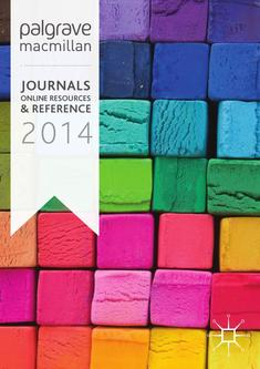 Journals, Online Resources and  Reference 2014