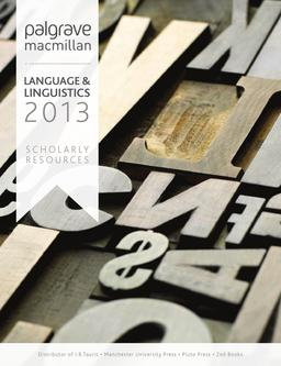 Language & Lingusitics  2013