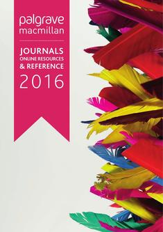 Journals, Online Resources and Reference 2016