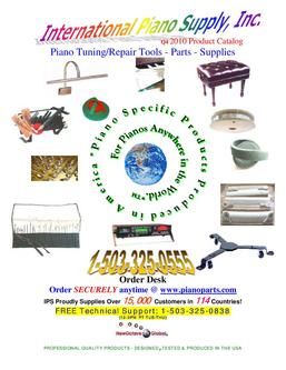 Piano Tuning/Repair Tools - Parts - Supplies Q4 2010