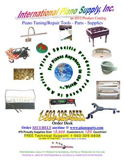 Piano Tuning/Repair Tools - Parts - Supplies Q1 2012