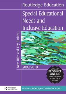 Needs and Inclusive Education 2009-2010