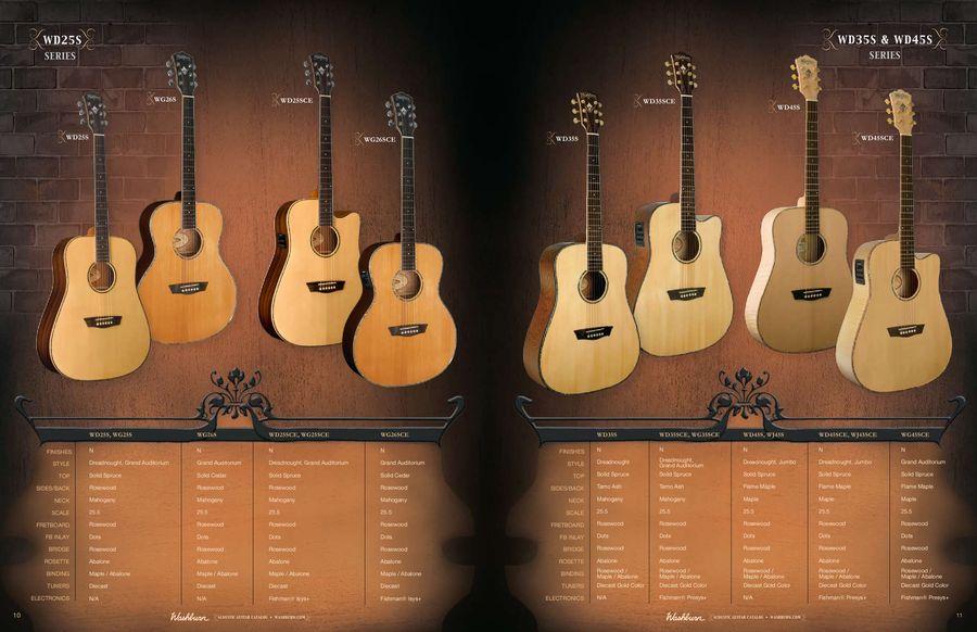 2010 - 2011 Washburn Acoustic Guitars by Washburn Guitars