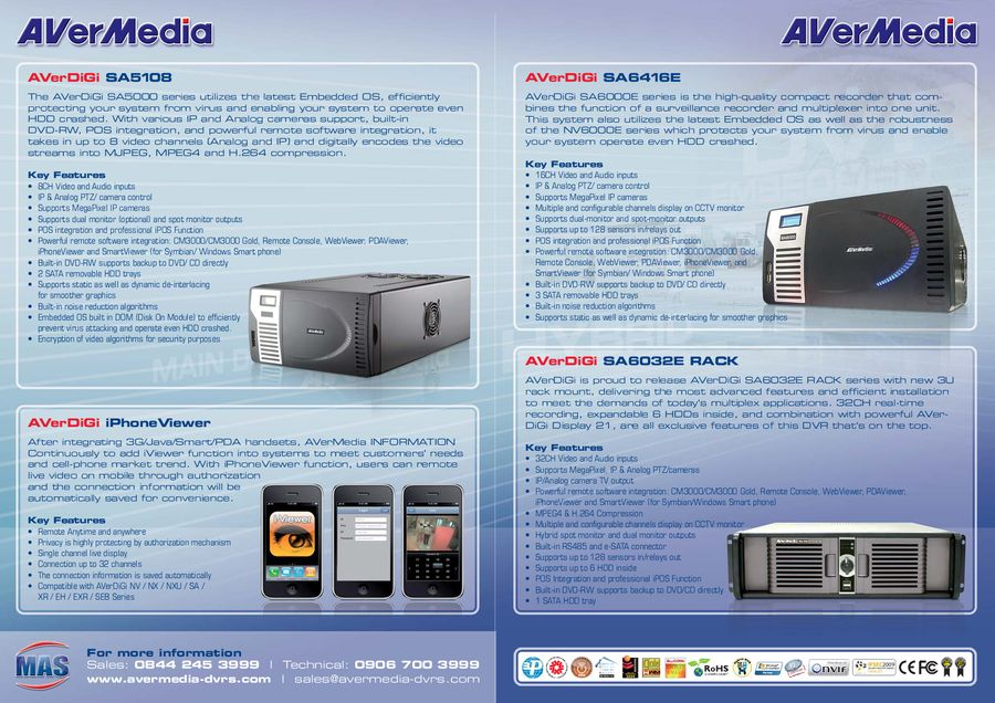 Dvrs from MAS by Moreton Alarm Supplies