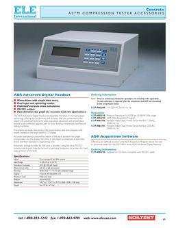 Concrete - ASTM Compression Testers Accessories 2011
