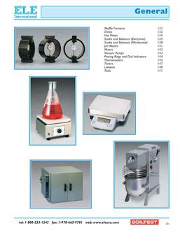 General Laboratory Equipment 2011