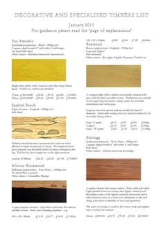Decorative and Specialist Hardwoods 2011