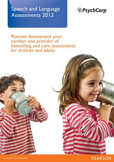 Speech and Language Assessments 2012