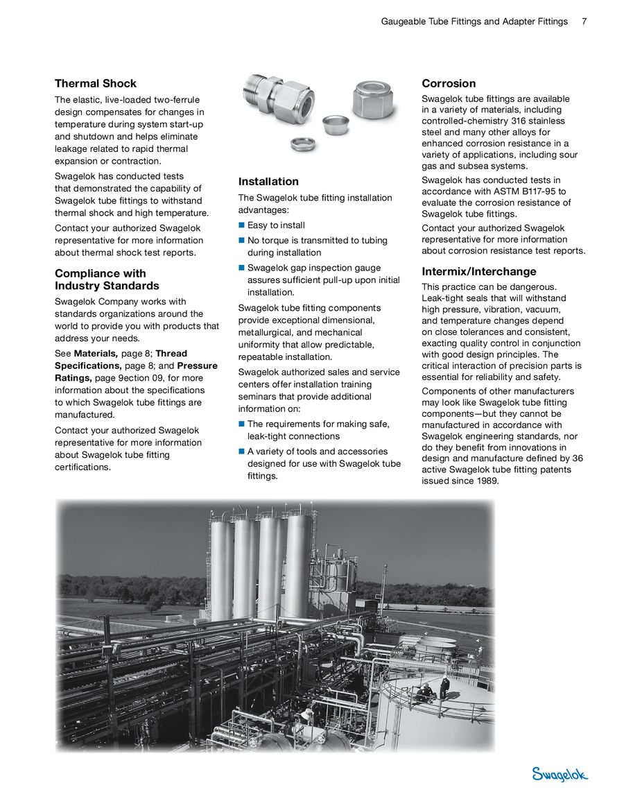 Page 7 of Swagelok Gaugeable Tube and Adapter Fittings