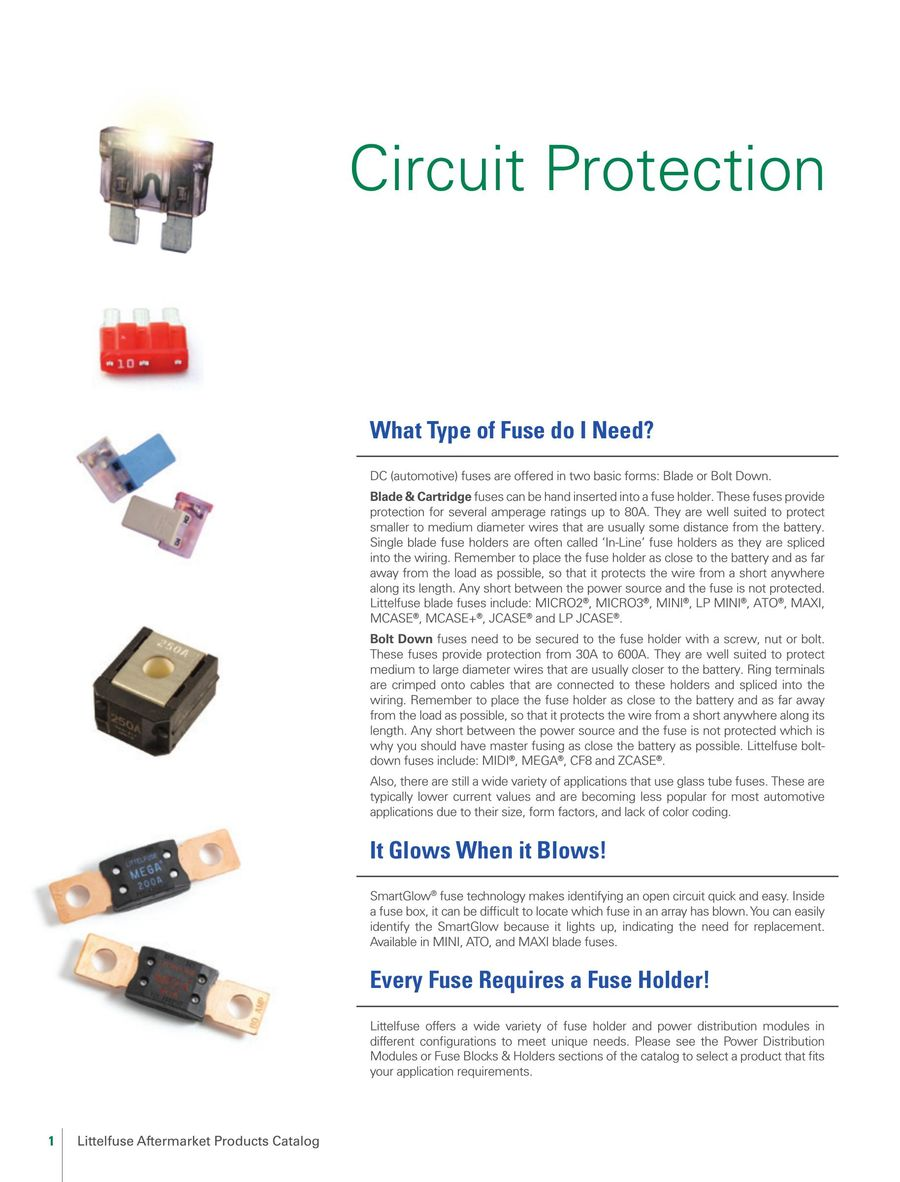 Circuit Protection Solutions For Automotive Applications 2017 By Fuses Types Of Littelfuse P 1 132