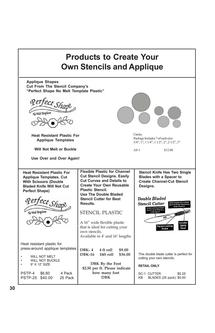 Quilting Supplies- Making Your Own Stencils 2011