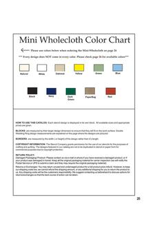 Mini Wholecloth Color Chart, Batik Minis 2011