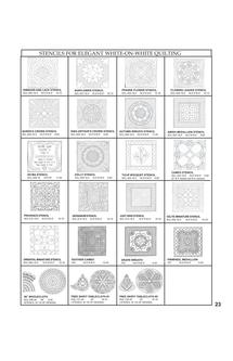 Stencils for White on White Quilting 2011