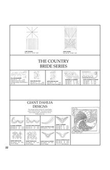 Grid Guide/ Line Design, Country Bride, Giant Dahlia 2011
