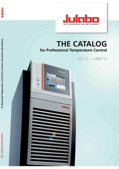 Catalog 2012/2013 - The Catalog for Professional Temperature Control