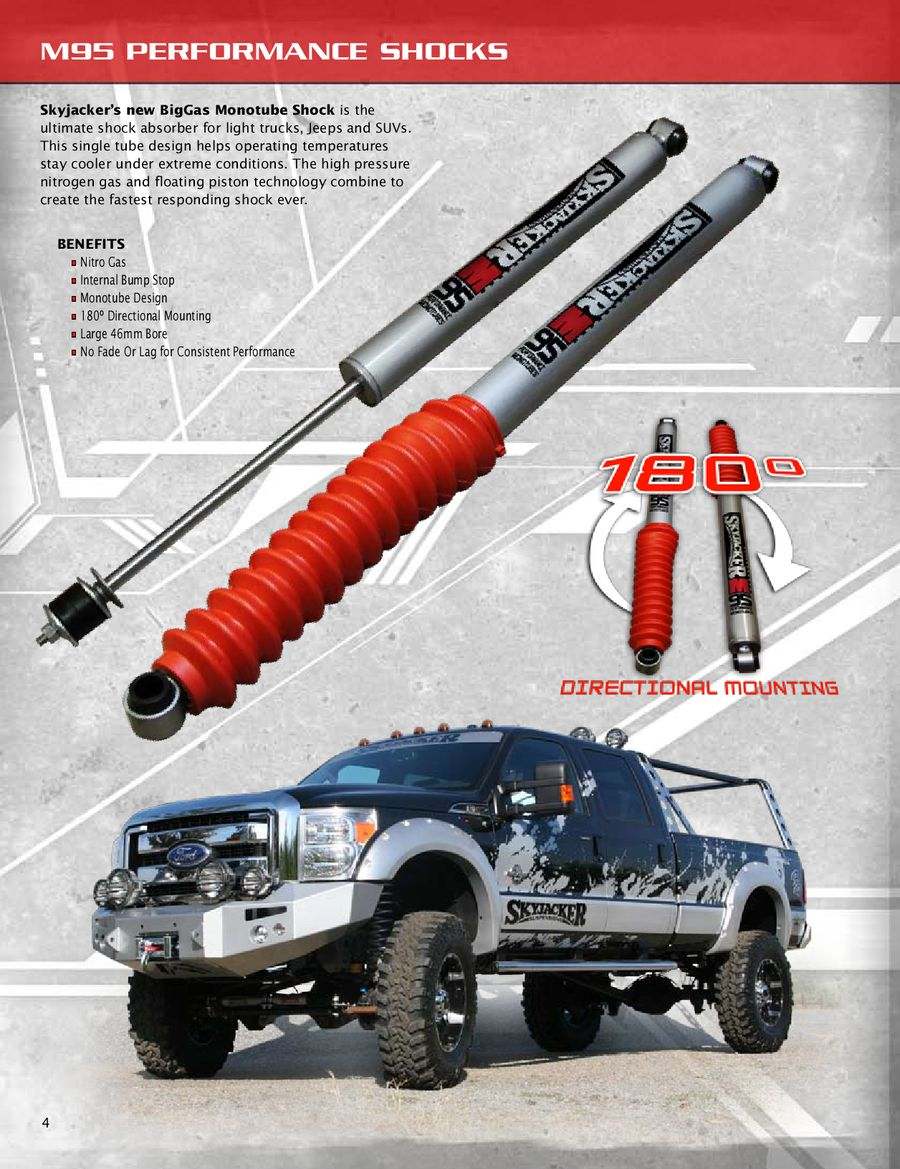 Shock Absorber-M95 Performance Monotube Front Skyjacker M9551