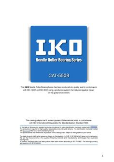 Needle Bearing Series