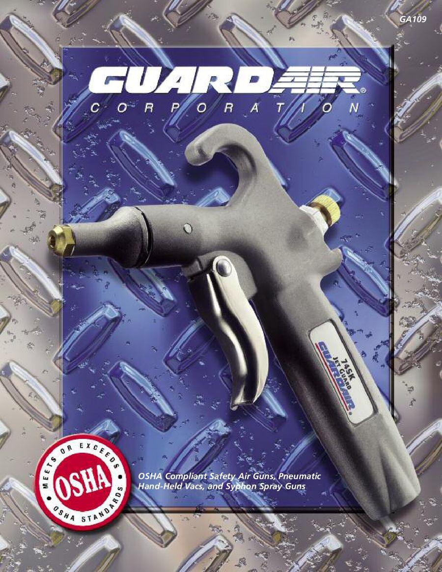 """72/"""" Extension GUARDAIR Pistol Grip Air Gun Chrome 75LJ072AA"""