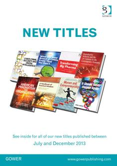 Business, Management and Training New Titles July - December 2013