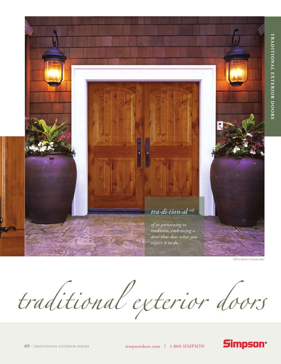 Life Goes Through It® Traditional Exterior Doors by Simpson Door Company