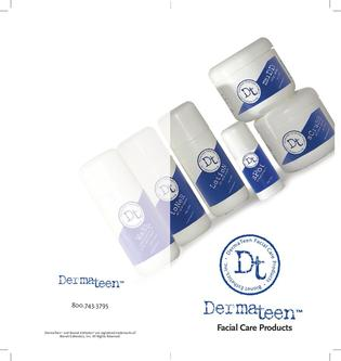 DermaTeen Product Brochure