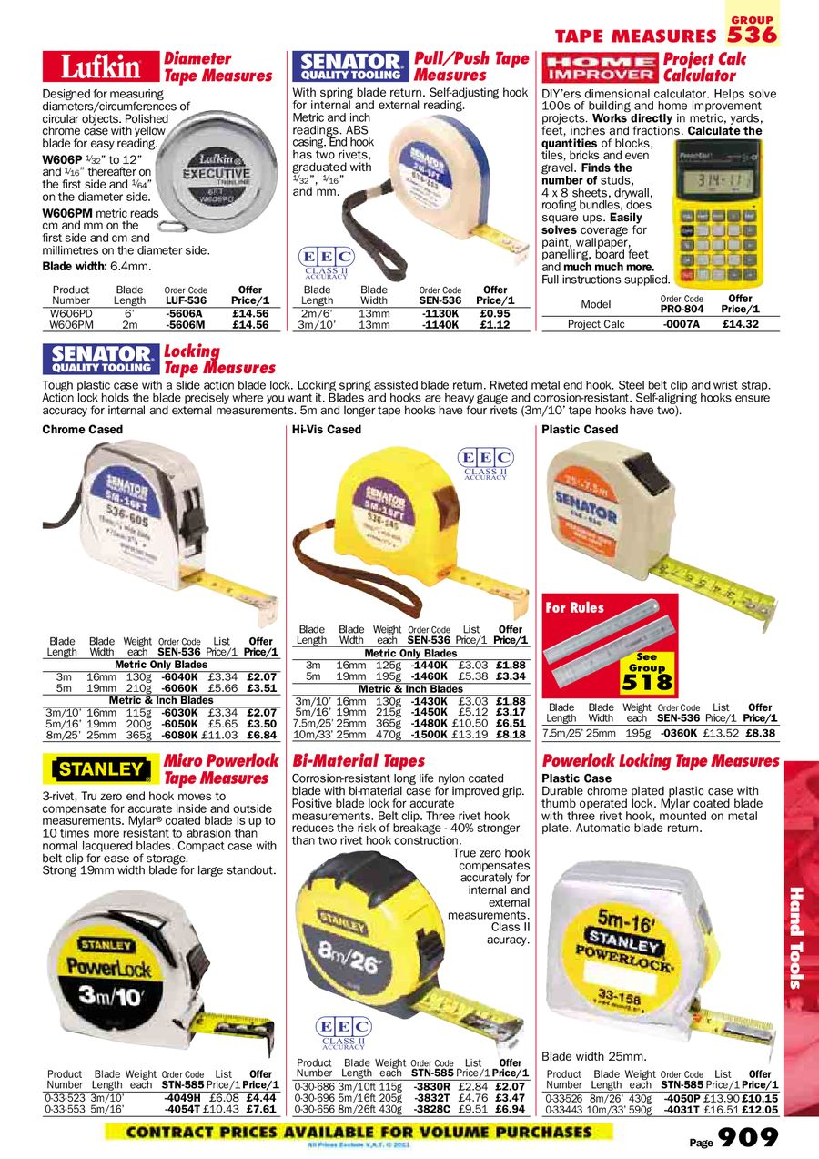 Page 138 of Hand Tools 2011
