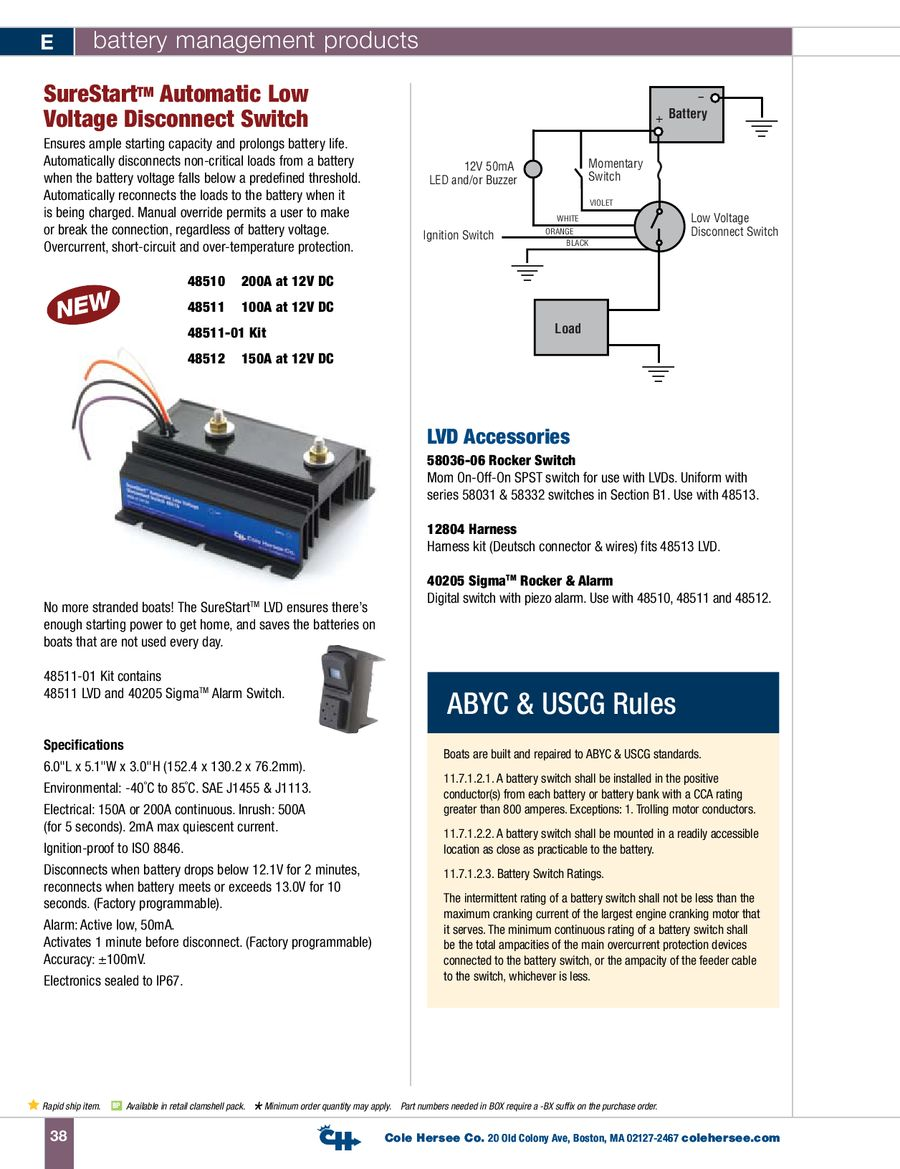Cole Hersee 48160 Wiring Trusted Diagram Battery Isolator Images Gallery