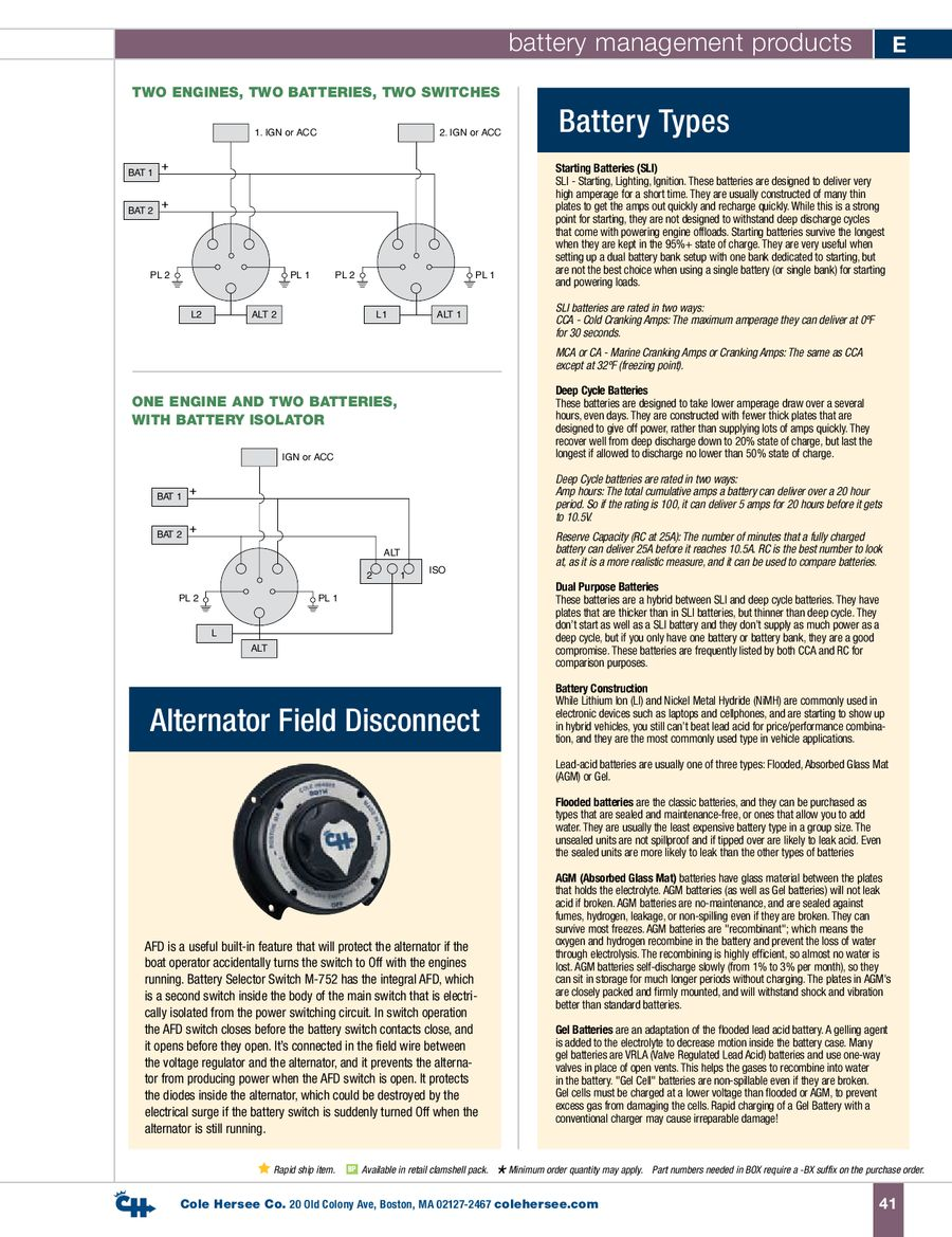 D 100 Marine Battery Management Products By Cole Hersee 48122 Isolator Wiring Diagram P 1 12