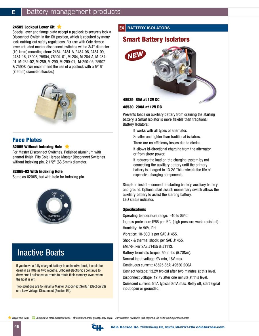 Page 12 Of D 100 Marine Battery Management Products Cole Hersee 48122 Isolator Wiring Diagram P