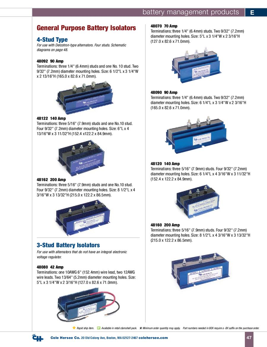 Battery Isolator 48160 Wiring Diagram Library Marine Further 2 Alternator 3 Page 10 Of D 100 Management Products P