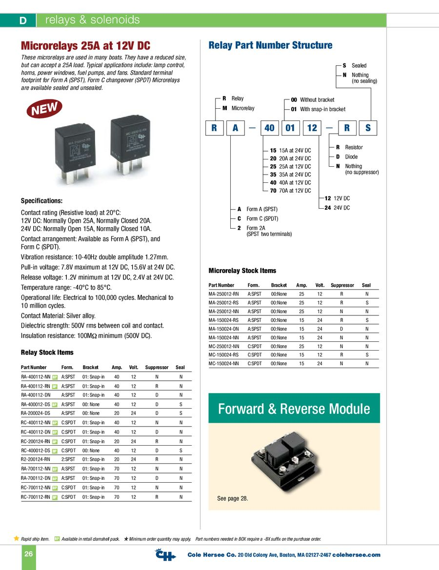 d 100 marine relays solenoids by cole hersee rh who sells it com