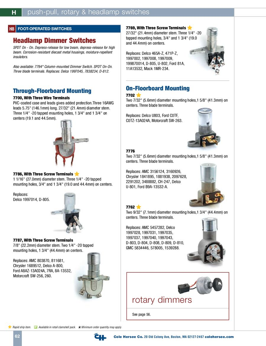 Page 6 Of D 400 Heavy Duty Push Pull Rotary Headlamp Switches Series Parallel Switch 8 Terminal P
