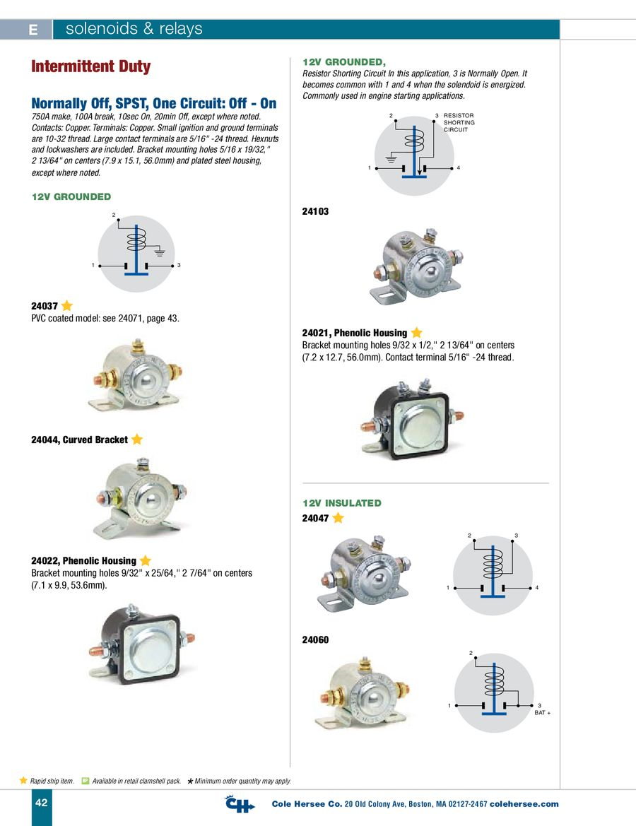 D-400 Heavy Duty Solenoids & Relays by Cole Hersee