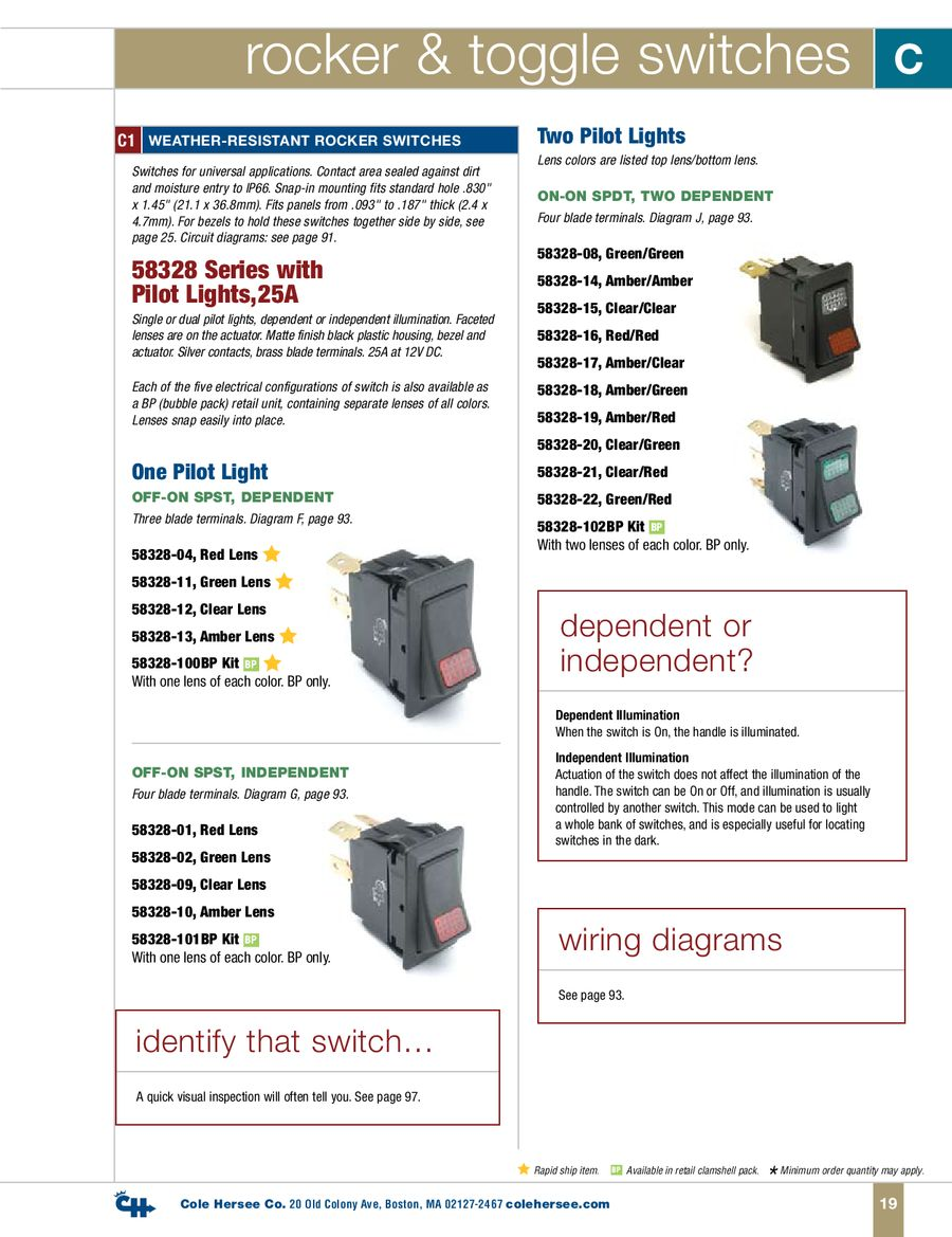 Page 27 Of D 400 Heavy Duty Catalog Cole Hersee 956 9100 Switch Wiring Diagram P 113