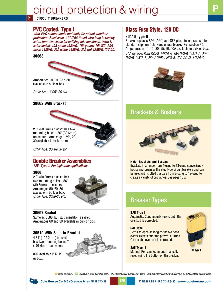 D 275 Master Circuit Protection Wiring Accessories By Cole Hersee Stud Basics P 1 16