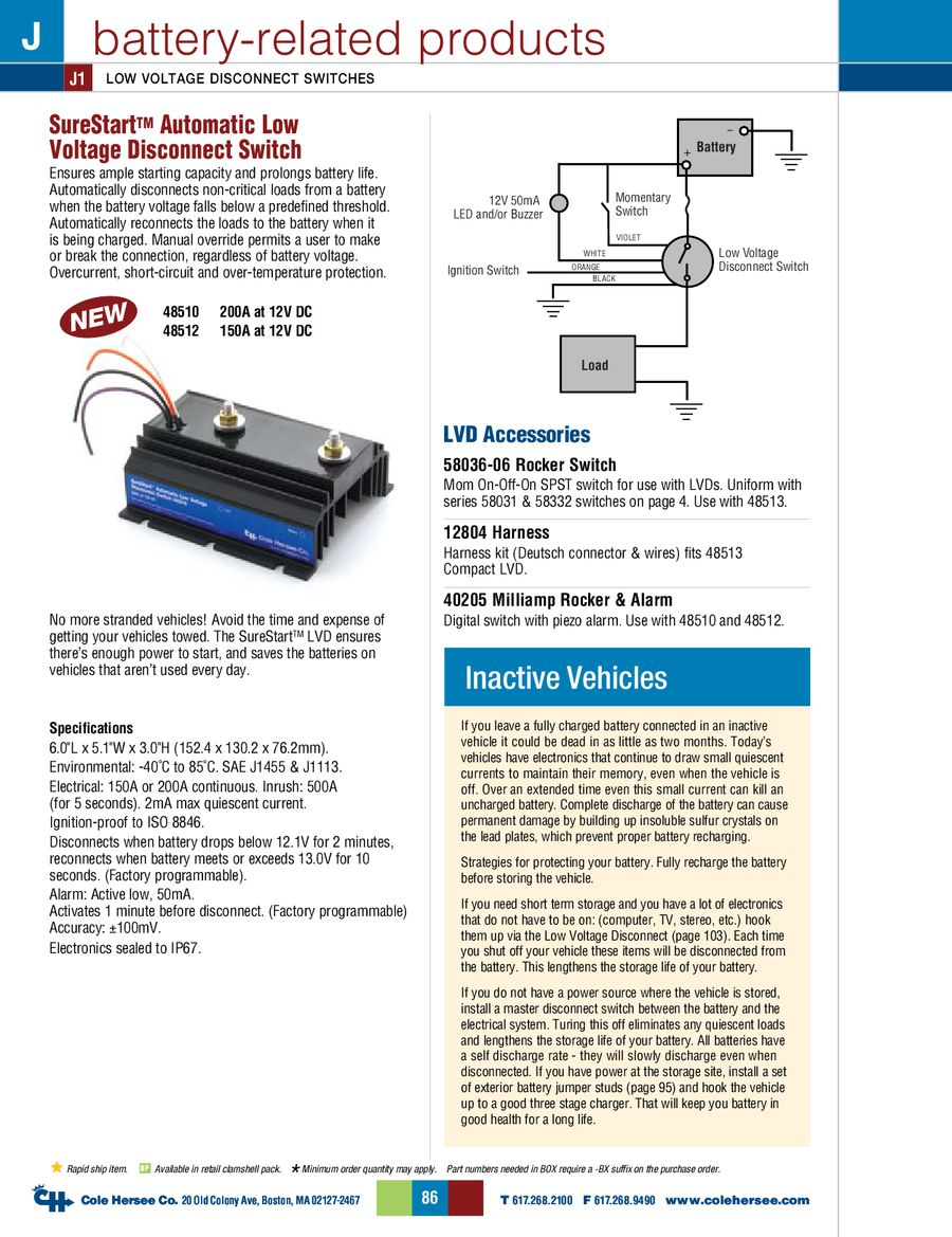 D 275 Master Battery Related Products By Cole Hersee Batteries 12v Led Wiring Diagram