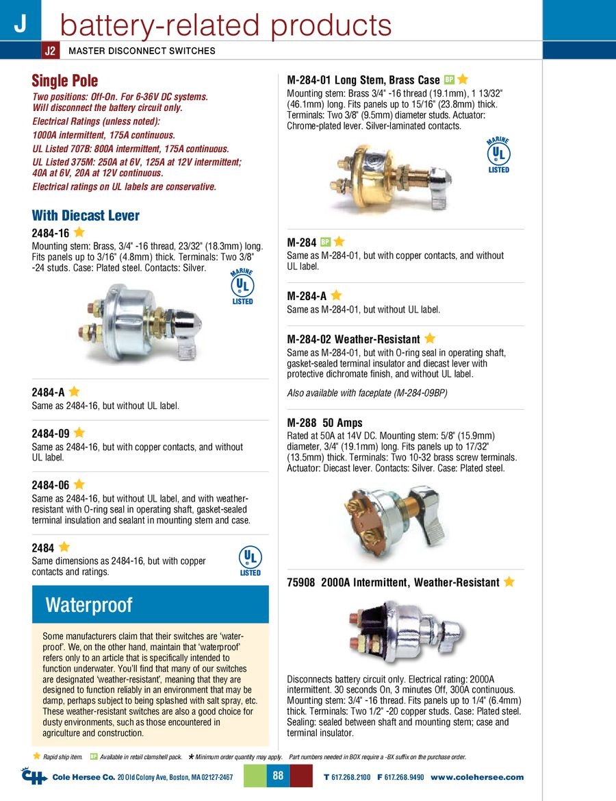 D 275 Master Battery Related Products By Cole Hersee 48122 Isolator Wiring Diagram P 1 12