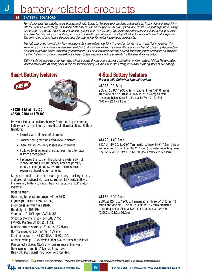 Page 11 Of D 275 Master Battery Related Products Cole Hersee 48122 Isolator Wiring Diagram P 12