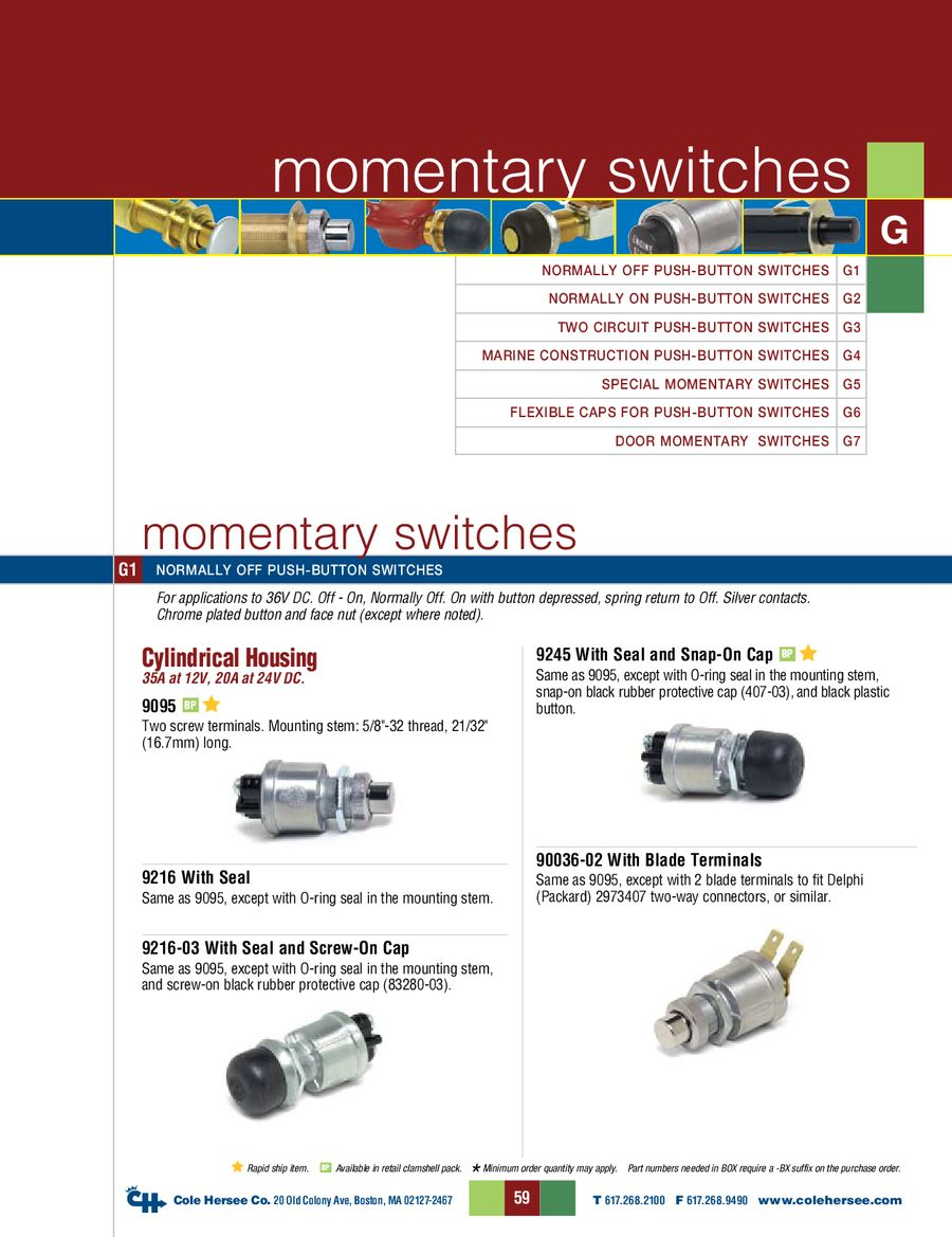 D 275 Master Momentary Switches By Cole Hersee Of Spst Should Only Require Two Terminals