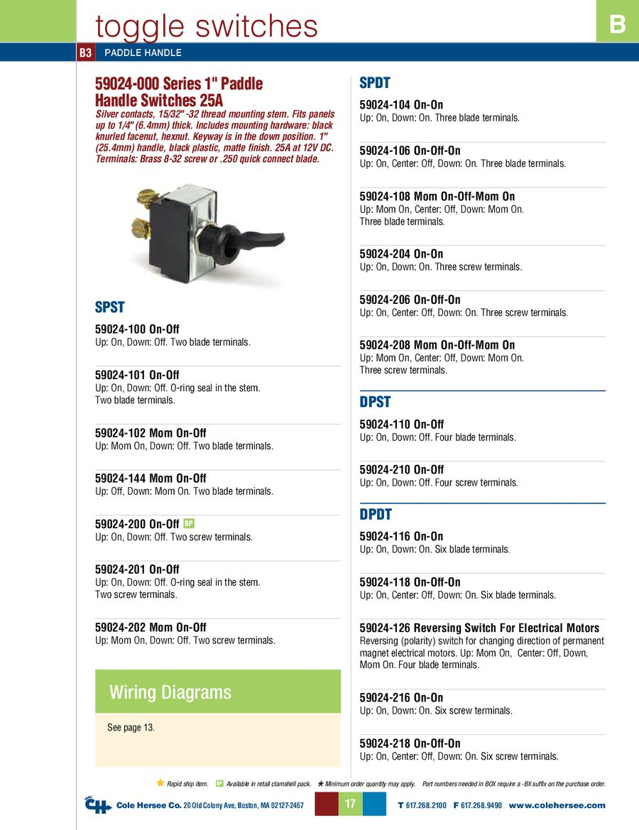 D 275 Master Toggle Switches By Cole Hersee Of Momentary Spst Should Only Require Two Terminals