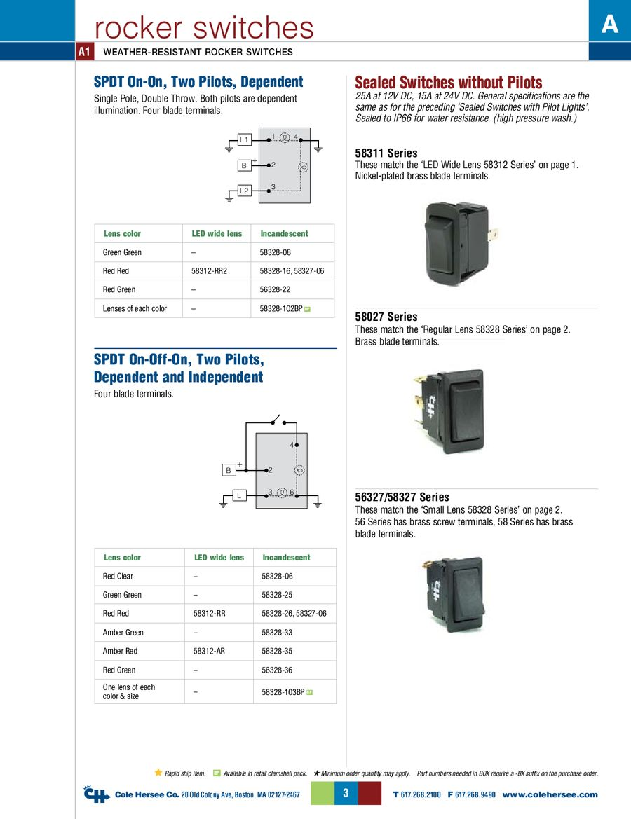 D 275 Master Rocker Switches By Cole Hersee For A 4 Way Switch Wiring Diagram Dc