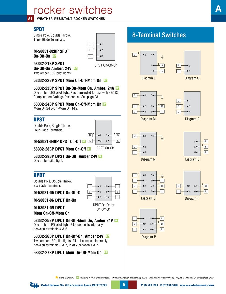 Page 4 Of D 275 Master Rocker Switches Wiring Single Pole Throw Spst Switch With Light P 14