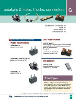 D-100 Marine Breakers & Fuses, Blocks, Connectors