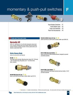 D-100 Marine Momentary & Push-pull Switches